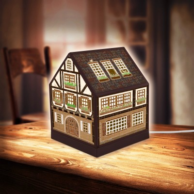 Pintoo-R1006 Puzzle 3D - House Lantern - Half-Timbered House