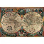 Puzzle  Pomegranate-AA603 Henricus Hondius : Carte antique du monde