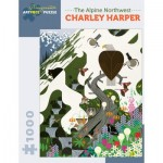 Puzzle  Pomegranate-AA927 Charley Harper - The Alpine Northwest