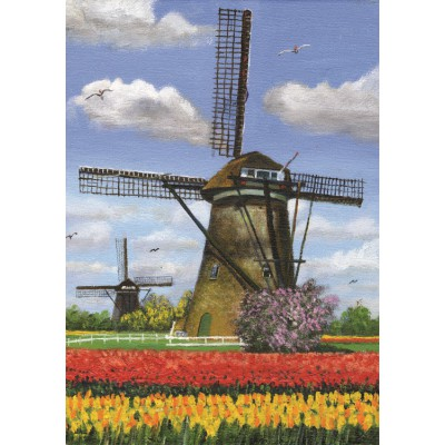 Puzzle PuzzelMan-157 Dirk Graas : 2 Moulins
