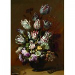 Puzzle  PuzzelMan-390 Collection Rijksmuseum Amsterdam - Bollongier : Nature Morte, Tulipes