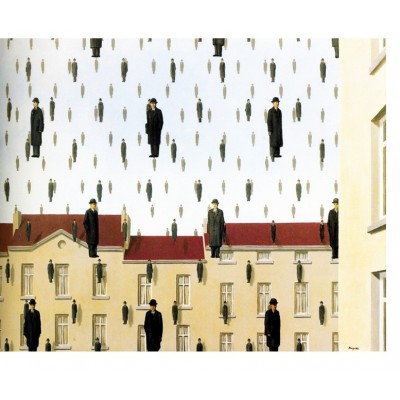Puzzle Puzzle-Michele-Wilson-A550-80 Magritte - Golconde, 1953