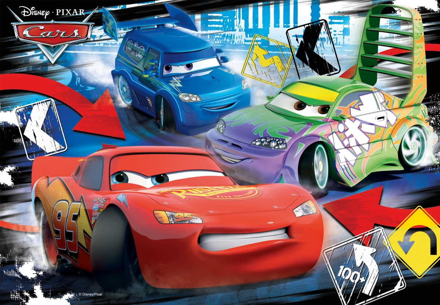 2 puzzles cars ravensburger 08870 24 pi ces puzzles cars planet 39 puzzles. Black Bedroom Furniture Sets. Home Design Ideas