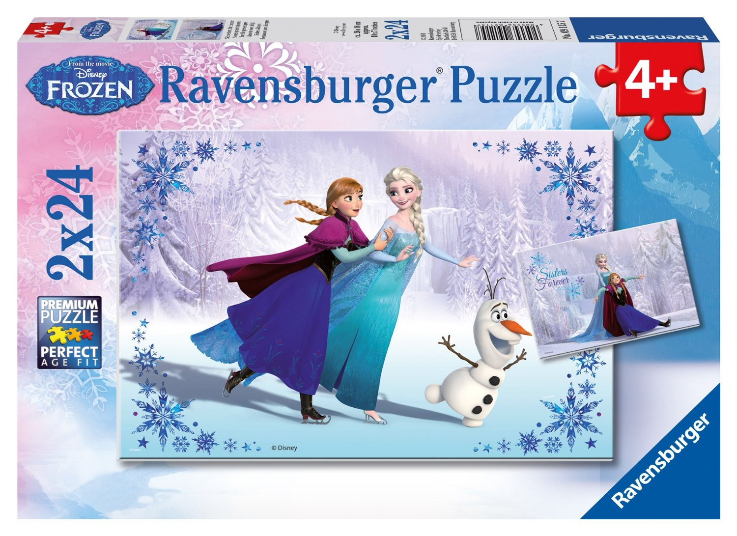 2 puzzles disney la reine des neiges ravensburger 09115 24 pi ces puzzles autres disney. Black Bedroom Furniture Sets. Home Design Ideas