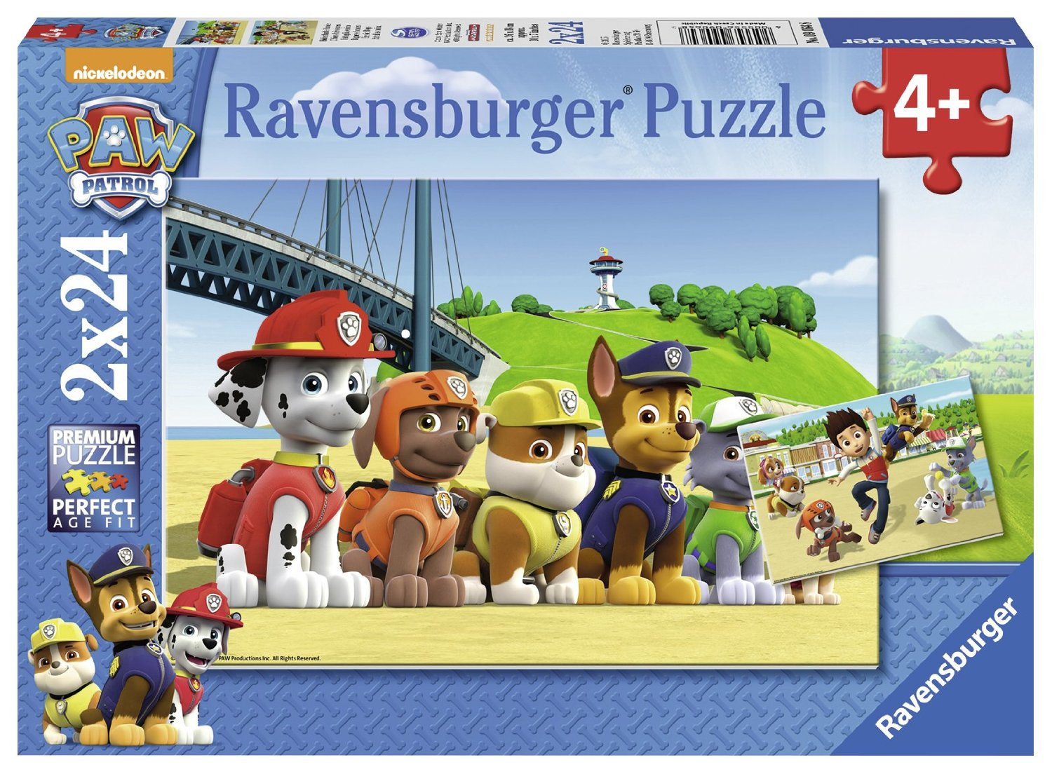 Ravensburger 2 Puzzles Pat Patrouille Puzzle 24 Pieces p51641 on disney computer themes