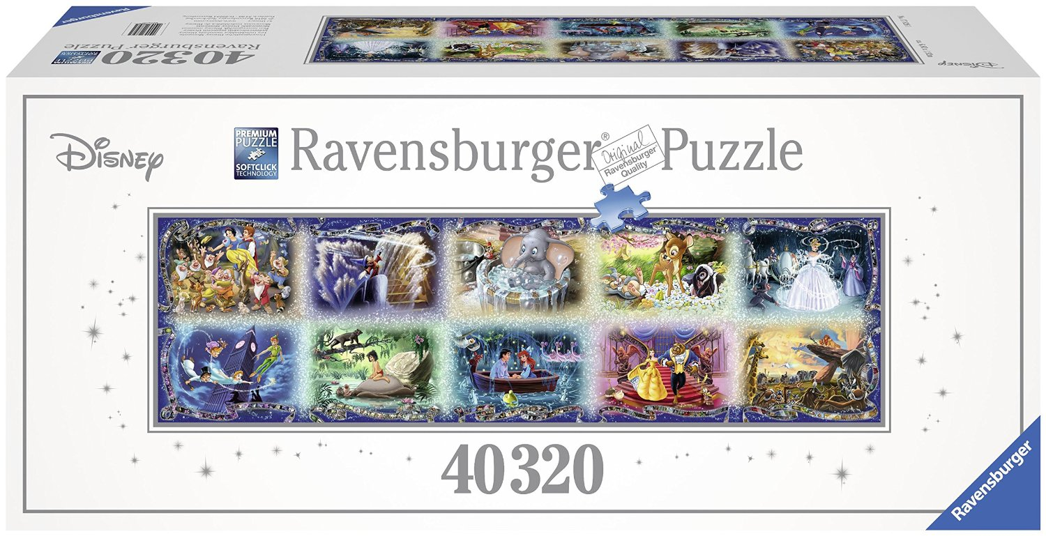 plus grand puzzle du monde moments disney inoubliables ravensburger 17826 40320 pi ces puzzles. Black Bedroom Furniture Sets. Home Design Ideas
