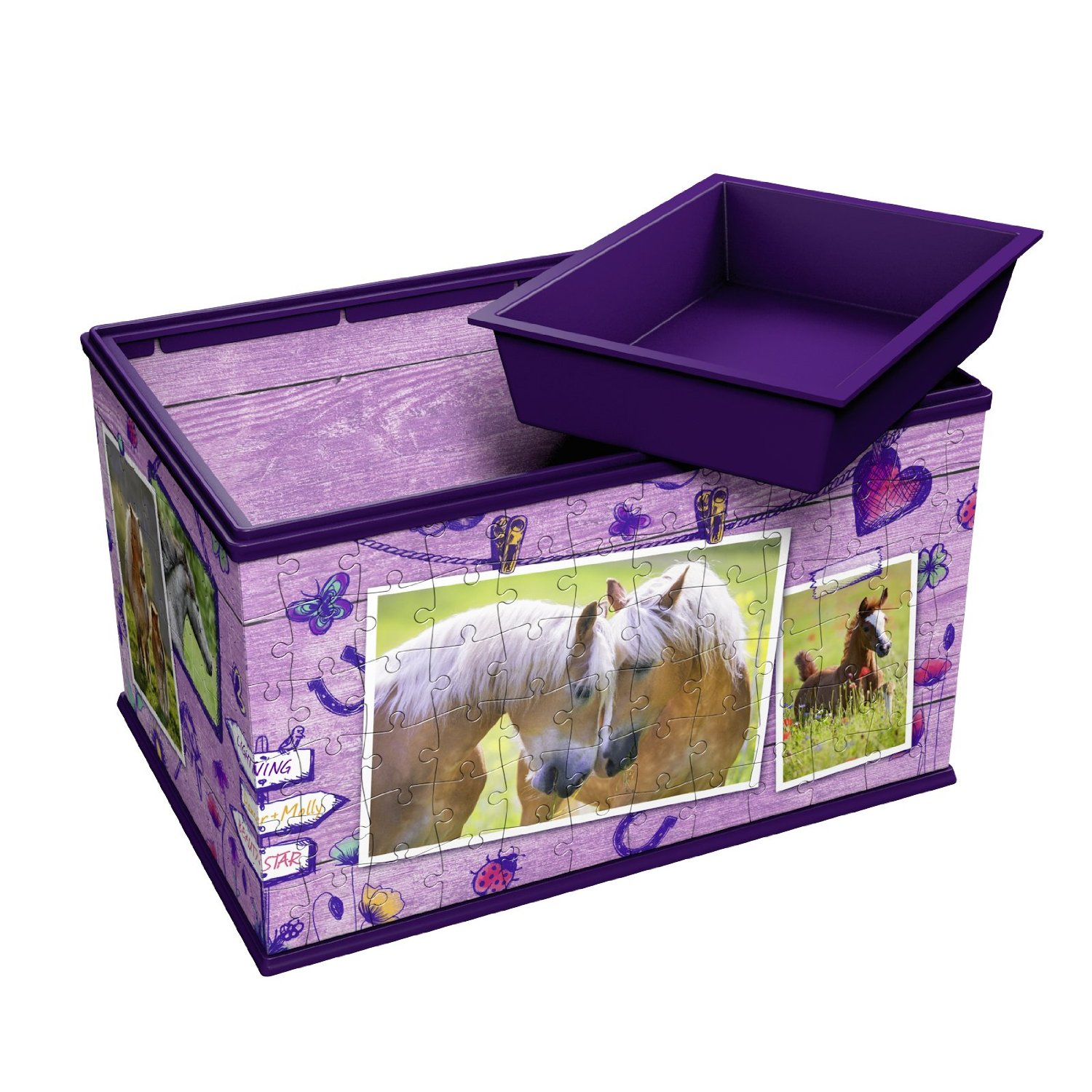 Puzzle 3d Girly Girls Edition Coffret Chevaux