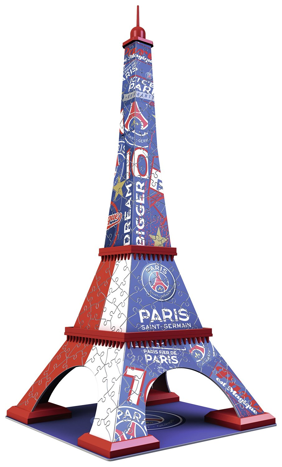 puzzle 3d tour eiffel psg ravensburger 12560 216 pi ces puzzles sports planet 39 puzzles. Black Bedroom Furniture Sets. Home Design Ideas