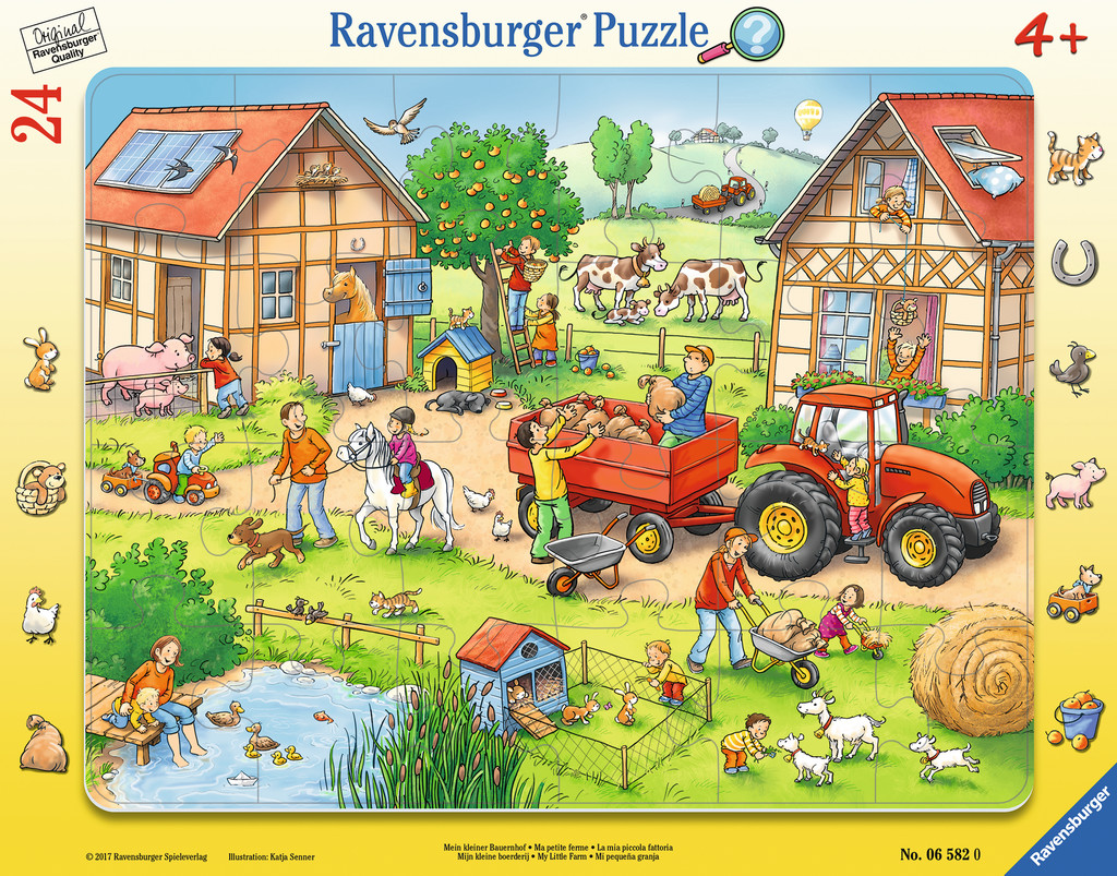 puzzle cadre la ferme ravensburger 06582 24 pi ces puzzles animaux de la ferme planet 39 puzzles. Black Bedroom Furniture Sets. Home Design Ideas