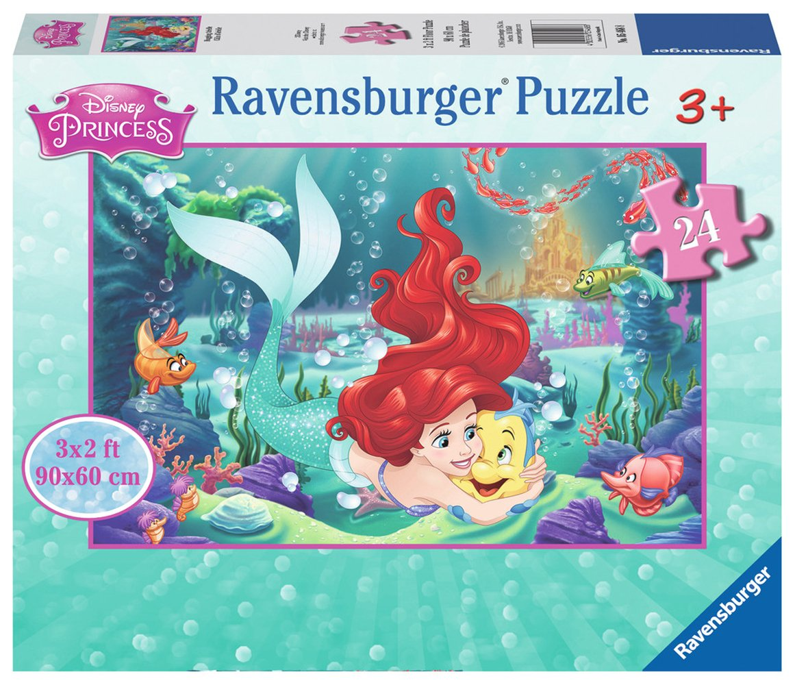 puzzle g ant de sol disney princess arielle ravensburger 05468 24 pi ces puzzles autres. Black Bedroom Furniture Sets. Home Design Ideas