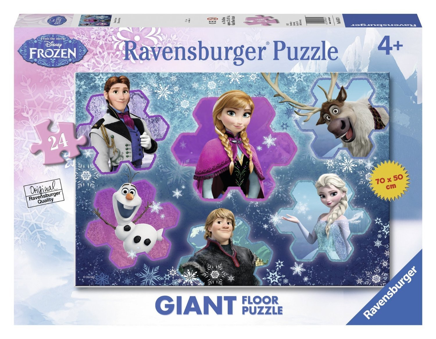 puzzle g ant de sol la reine des neiges ravensburger 05437 24 pi ces puzzles autres disney. Black Bedroom Furniture Sets. Home Design Ideas