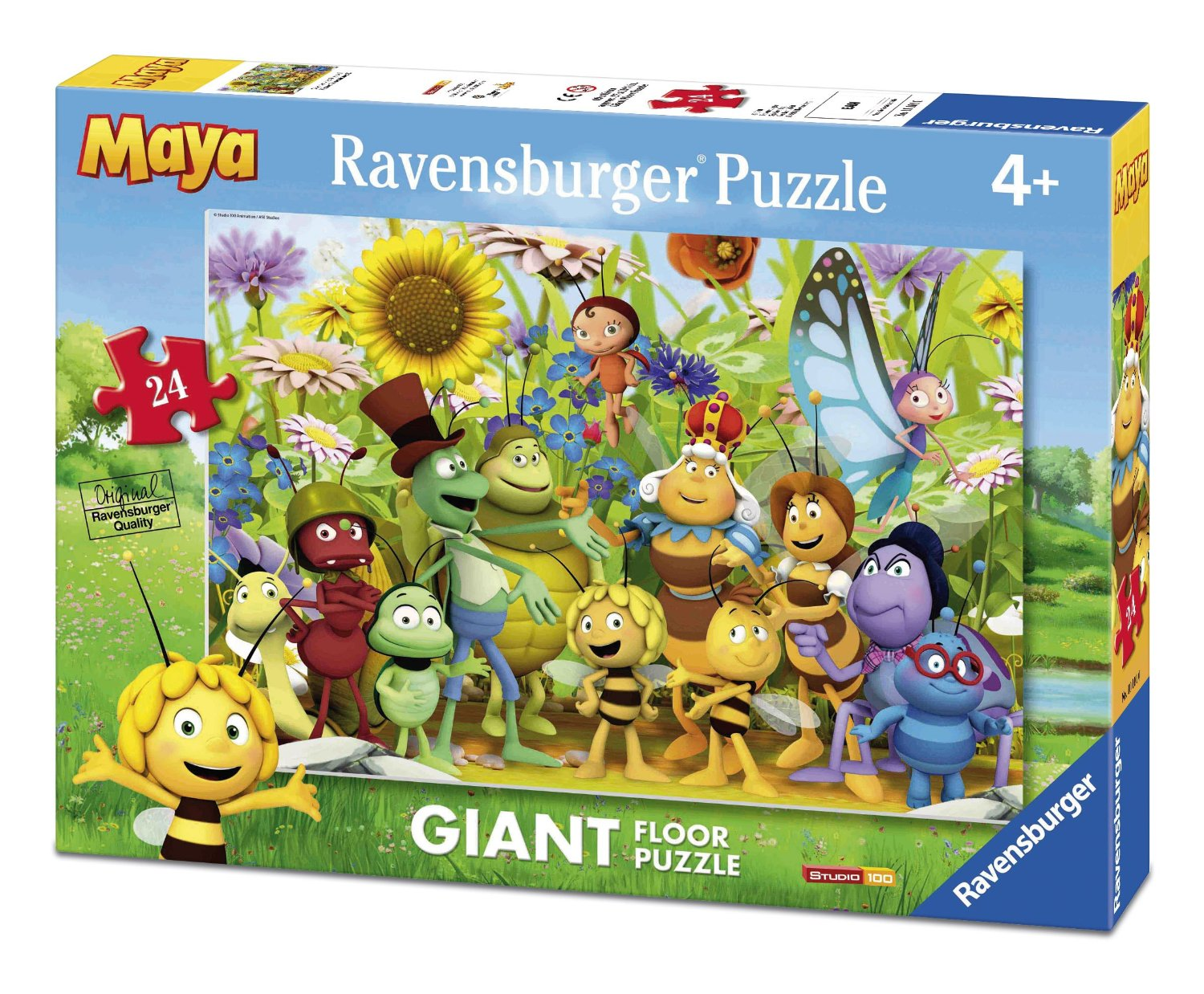 puzzle g ant de sol maya l 39 abeille ravensburger 05463 24 pi ces puzzles animaux en bd et. Black Bedroom Furniture Sets. Home Design Ideas