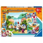 Ravensburger-05052 3 Puzzles - Top Wing