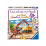 Ravensburger-05073 My First outdoor Puzzles - Mon Chantier