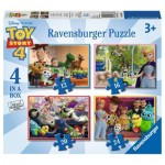 Ravensburger-06833 4 Puzzles - Toy Story