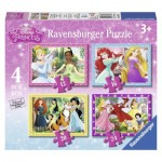 Ravensburger-07397 4 Puzzles - Disney Princess