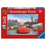 Ravensburger-07554 2 Puzzles - Cars à Paris et à Londres