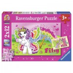 Ravensburger-07577 2 Puzzles - Filly Butterfly