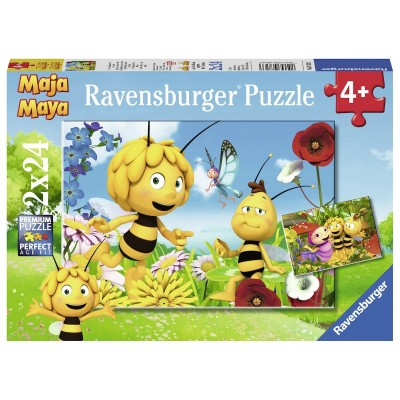 2 puzzles maya l 39 abeille ravensburger 07823 24 pi ces puzzles bandes dessin es et dessins. Black Bedroom Furniture Sets. Home Design Ideas