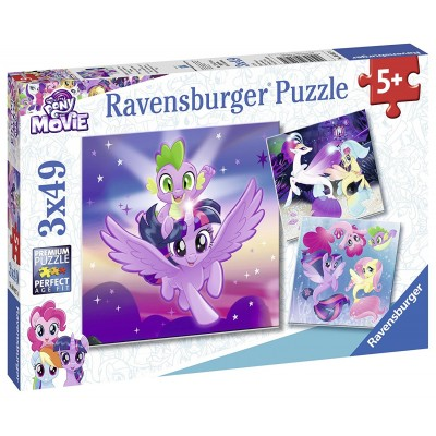 Ravensburger-08027 3 Puzzles - My Little Poney