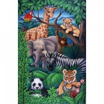 Puzzle  Ravensburger-08601 Animaux de la jungle