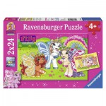 Ravensburger-09089 2 Puzzles - Filly Butterfly