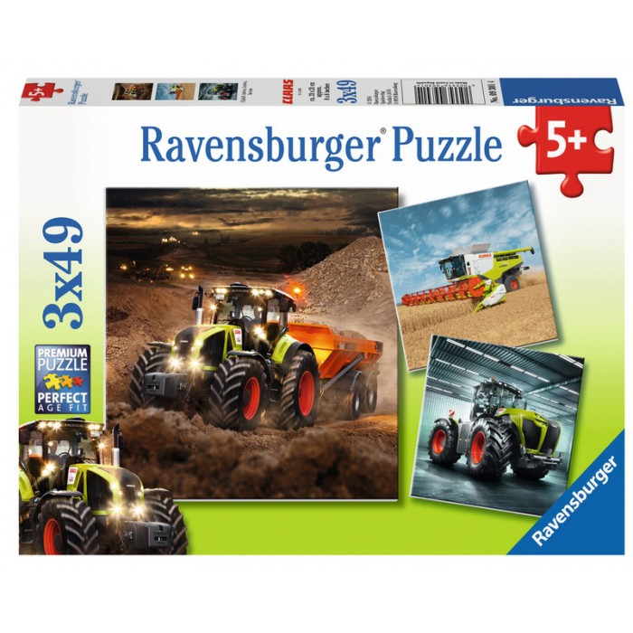 3 Puzzles - Tracteurs CLAAS: Axion, Lexion, Xerion