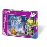 Ravensburger-09339 3 Puzzles - Princesses Disney