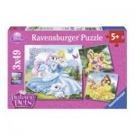 Ravensburger-09346 3 Puzzles - Princesses Disney