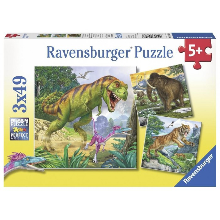 3 Puzzles - Animaux Sauvages