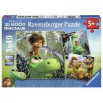 Ravensburger-09406 3 Puzzles - The Good Dinosaure