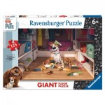 Ravensburger-09785 Puzzle Géant de Sol - Secret Life of Pets