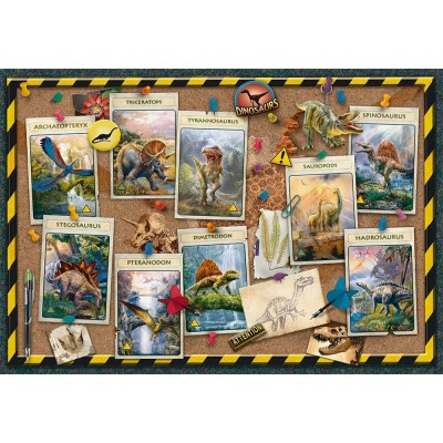 Puzzle Ravensburger-10868 Pièces XXL - Collection de Dinosaures