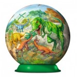 Ravensburger-11838 Puzzle Ball 3D - Dinosaures