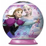 Ravensburger-12173 Puzzle Ball 3D - La Reine des Neiges