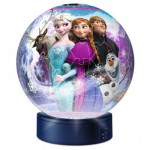 Ravensburger-12190 Puzzle Ball 3D avec Led - La Reine des Neiges