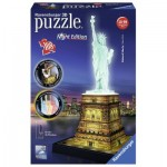 Ravensburger-12596 Puzzle 3D - Statue de la Liberté by Night