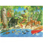 Puzzle  Ravensburger-12740 Pièces XXL - Woodland Friends
