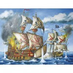 Puzzle  Ravensburger-12771 A l'Abordage