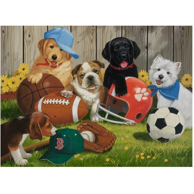 Puzzle Ravensburger-12806 Let's Play Ball!