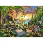 Puzzle  Ravensburger-12829 Dinosaures