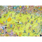 Puzzle  Ravensburger-14786 Au Match de Football