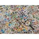 Puzzle  Ravensburger-14805 Timbres-Poste
