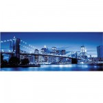 Puzzle  Ravensburger-15050 USA, New York illuminé