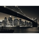 Puzzle  Ravensburger-15835 USA : Pont de Brooklyn, Manhattan