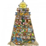 Puzzle  Ravensburger-16098 Colin Thompson - Phare Merveilleux