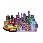 Ravensburger-16153 Puzzle Silhouette - Skyline, New York