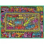 Puzzle  Ravensburger-16356 James Rizzi: We are on our way to your party