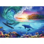 Puzzle  Ravensburger-16451 Prendre la Vague