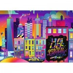 Puzzle  Ravensburger-16454 Live Life Colorfully, NYC